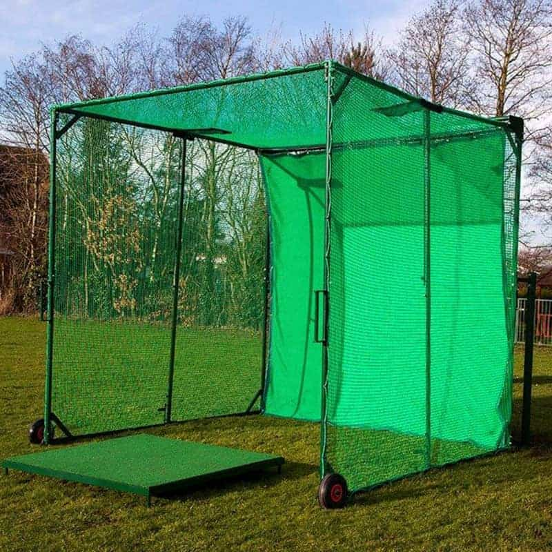 Golf practice cages