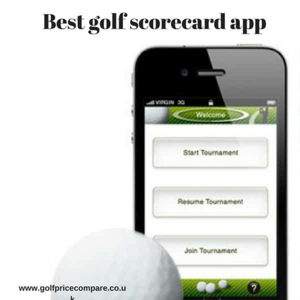 Best golf scorecard app-golfpricecompare