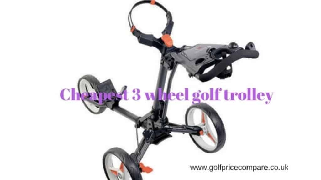 cheapest 3 wheel golf trolley