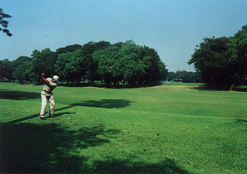 The 12th tee at Bombay Presidency Golf Club.