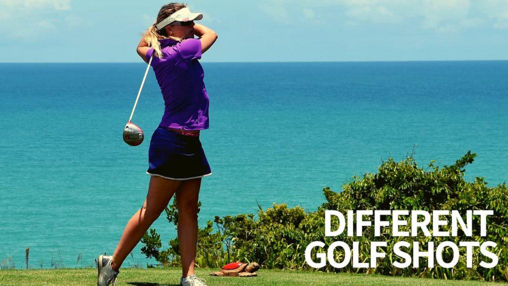 different golf shots