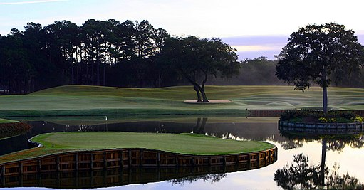 The island green at TPC Sawgrass